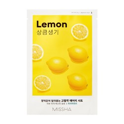 MISSHA Airy Fit Sheet Mask (Lemon)-Pleťová maska s extraktom citrónu
