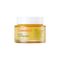 MISSHA Su:Nhada Calendula pH Balancing & Soothing Cream - Hydratačný a upokojujúci krém s mierne kyslým pH